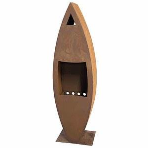 SIENA GARDEN Kaminofen Rustika, Stahlblech mit Edelrost 25x40x140cm