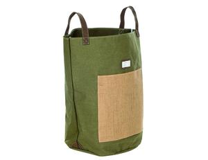 SIENA GARDEN Laub- und Gartenabfalltasche Sussex, aus grünem Segeltuch