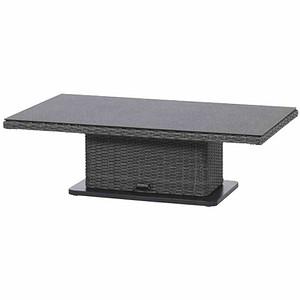 SIENA GARDEN Lift Tisch Porto 130x75 cm, Aluminium / Geflecht grau, Spraystone