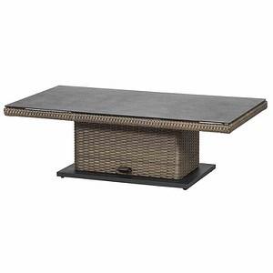 SIENA GARDEN Lift Tisch Teramo, bronze, 130x75cm, Tischplatte Spraystone