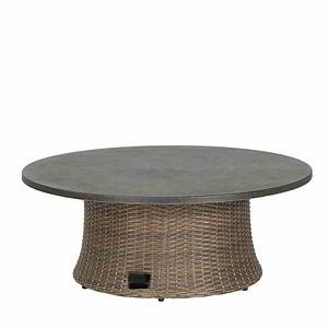 SIENA GARDEN Lift-Tisch Teramo, rund, bronze, Ø 100 cm, Tischplatte Spraystone