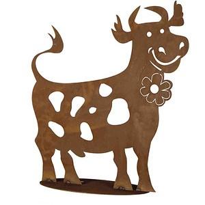 SIENA GARDEN Lustige Kuh I, Metall mit Edelrost, H60cm