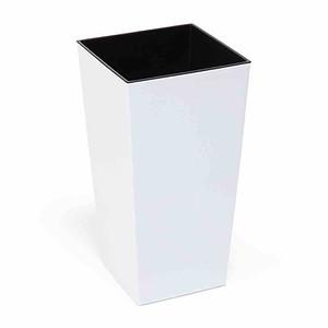 SIENA GARDEN Pflanzgefäß Lyon, Kunststoff weiß 19x19x36cm