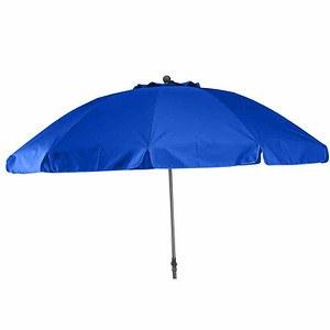 SIENA GARDEN Schirm Tropico Ø 200 cm, blau Gestell anthrazit / blau UV+50