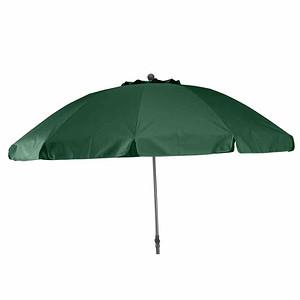 SIENA GARDEN Schirm Tropico Ø 200 cm, grün Gestell anthrazit / grün UV+50