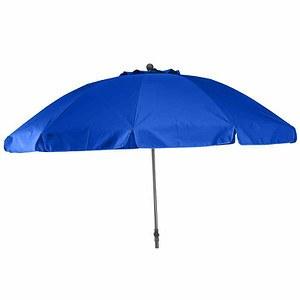 SIENA GARDEN Schirm Tropico Ø 250 cm, blau, Gestell anthrazit / Polyester blau UV