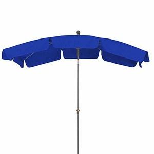 SIENA GARDEN Schirm Tropico 2,1x1,4 m, eckig, blau, Gestell anthrazit / Polyester