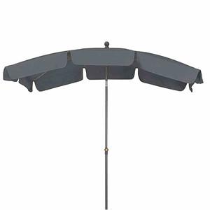 SIENA GARDEN Schirm Tropico 2,1x1,4 m, eckig, grau, Gestell anthrazit / Polyester
