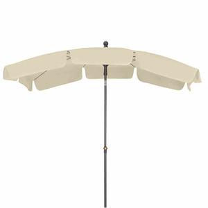 SIENA GARDEN Schirm Tropico 2,1x1,4 m, eckig, natur, Gestell anthrazit / Polyester