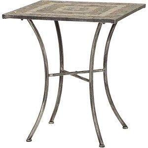 SIENA GARDEN Tisch Felina eckig 60x60 cm Eisen mit Mosaikoptik