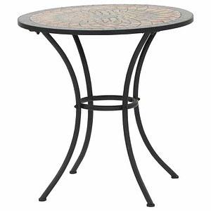 SIENA GARDEN Tisch Prato rund Ø 70 cm, Eisen mit Mosaikoptik