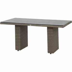 SIENA GARDEN Tisch Teramo 160x90 cm, bronze, Spraystone Tischplatte
