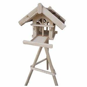 SIENA GARDEN Vogelhaus Nr 1 mit Ständer, Maße: 50x54x41cm ink Futterlade