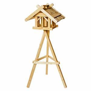 SIENA GARDEN Vogelhaus Nr. 45 mit Dreibeinständer und Silo, Maße: 50x54x39cm