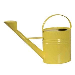 SIENA GARDEN Zinkgießkanne 10l, Stahlblech gelb