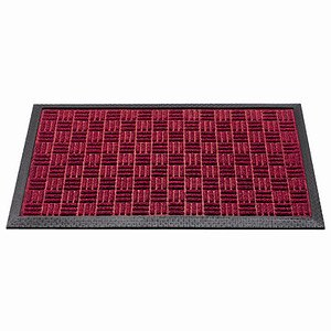 SIENA HOME Außenmatte Quadro 45 x 75 cm rot