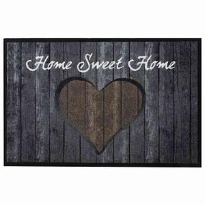 SIENA HOME Fußmatte Peva Hearts Timber braun 50 x 75 cm