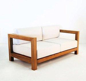 Sofa Eiche Modern mit Kissen