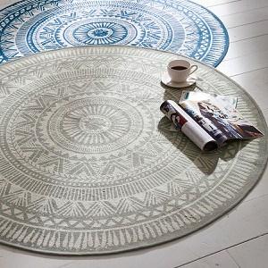 Teppich Sigma Grau Ø 120 cm