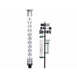 TFA DOSTMANN Jumbo-Gartenthermometer aus Metall Höhe 115cm, Kopf und Fuss