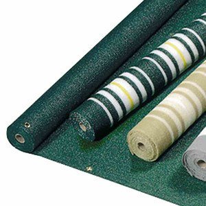 TNC Balkonverkleidung, gelb/ weiß, 90x 250 cm, abwaschbar, Rollenware