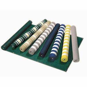 TNC Balkonverkleidung, grün/ weiß/ gelb, 90x25 cm, abwaschbar, Rollenware