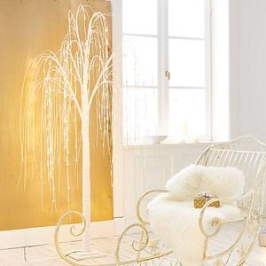 Trauerweide mit LED Beleuchtung Bianco Weiß