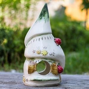 Vogelhaus aus Keramik, bunt, 34cm