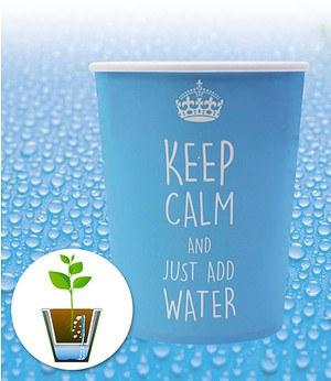 "WaterWick® Topfsystem ""Keep Calm"",1 Set"