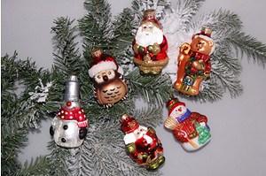 Weihnachtskugeln Figuren-Set, 6-teilig