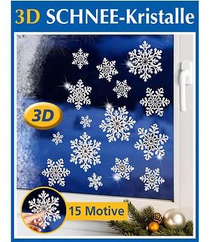 """WENKO 3D Fenster-Dekor """"Schnee-Kristalle"""",15 tlg."""
