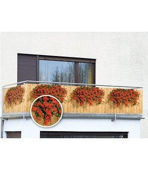 WENKO Balkon-Sichtschutz Geranien,5 m