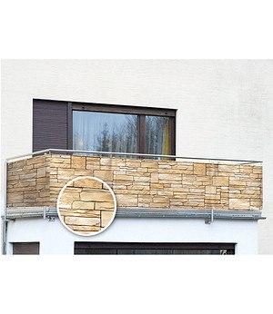 WENKO Balkon-Sichtschutz Mauer,5 m