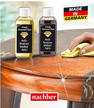 WENKO Diamond Clean Möbelpflege dunkel 100ml,1 Stück