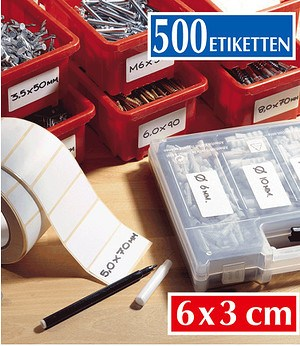 WENKO Haftetiketten inkl. Dispenser,1 Pack.