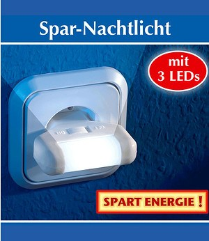 WENKO Spar-Nachtlicht 2er-Set,1 Pack.