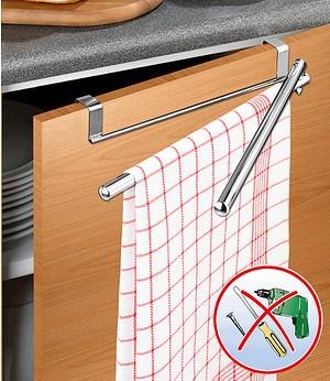 WENKO Tür-Handtuchhalter mit Schwenkarmen,1 Stück