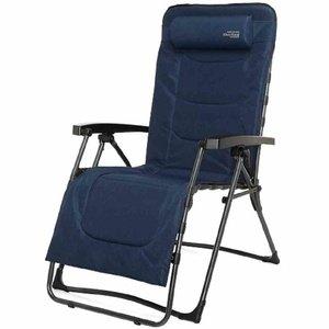 Westfield Relaxliege XXL, gepaddetes Textil blau Stahlgestell