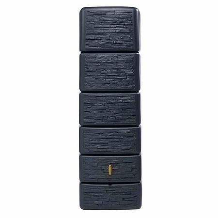 4RAIN Wandtank 300L graphitgrau, Slim Stone Decor