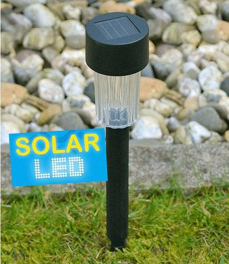 6er-Set LED Solarlampen mit Erdspieß 30,5 cm,1 Set