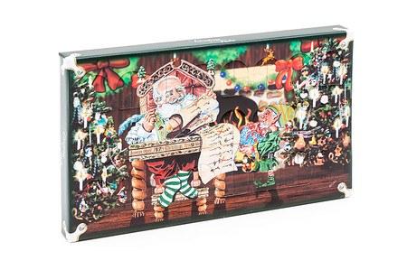 """Adventskalender mit Weihnachstkugeln """"Santa Zuhause"""""""