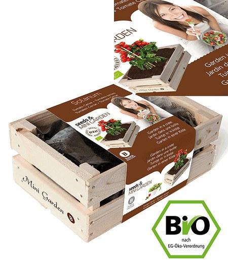 "Baza Seeds Mini-Garten BIO-Tomate ""Cerise"",1 Kiste"
