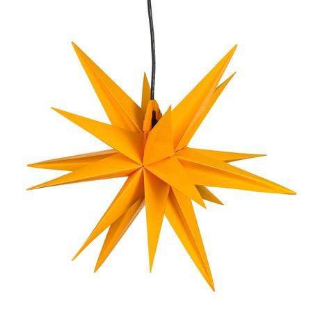 Beleuchtetes Deko-Objekt Stern Gelb klein