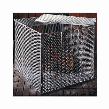 BRISTA Komposter, Maße: 100x100x80cmfeuerverzinkt, 4-teilig, Streckmetall