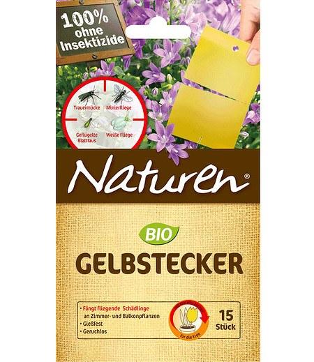 Celaflor Naturen® BIO Gelbstecker, 10 Stück, teilbar auf 15