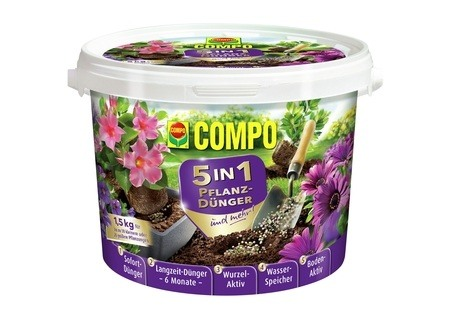 COMPO COMPO 5in1 Pflanz-Dünger und mehr 1,5 kg