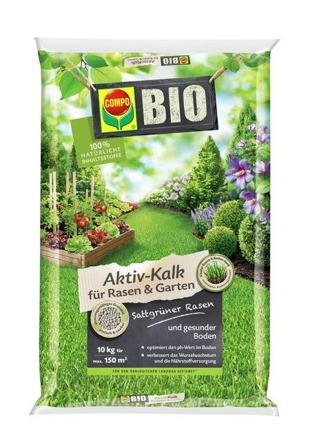 COMPO COMPO BIO Aktiv-Kalk für Rasen und Garten 10 kg für 150 m²