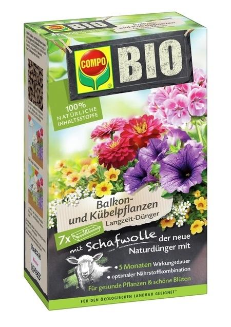 Compo COMPO BIO Balkon- und Langzeit-Dünger mit Schafwolle 750 g