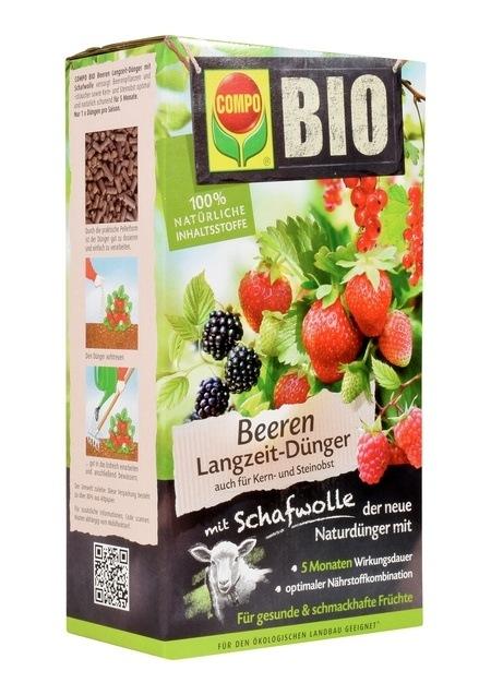 COMPO COMPO BIO Beeren Langzeit-Dünger mit Schafwolle 2 kg