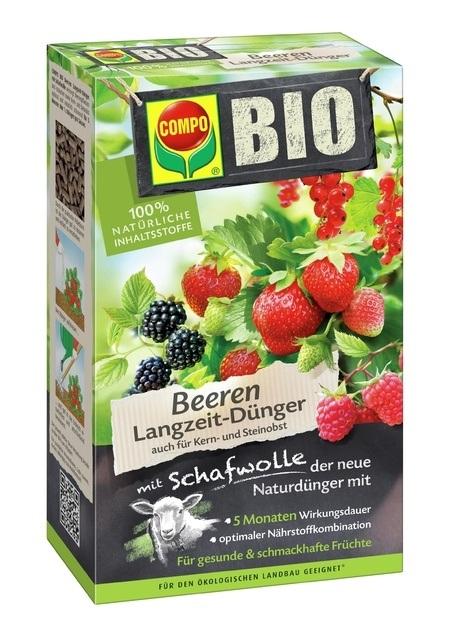 Compo COMPO BIO Beeren Langzeit-Dünger mit Schafwolle 750 g